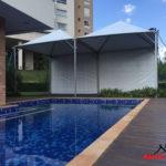 Tendas piramide modelo para cobrir piscinas